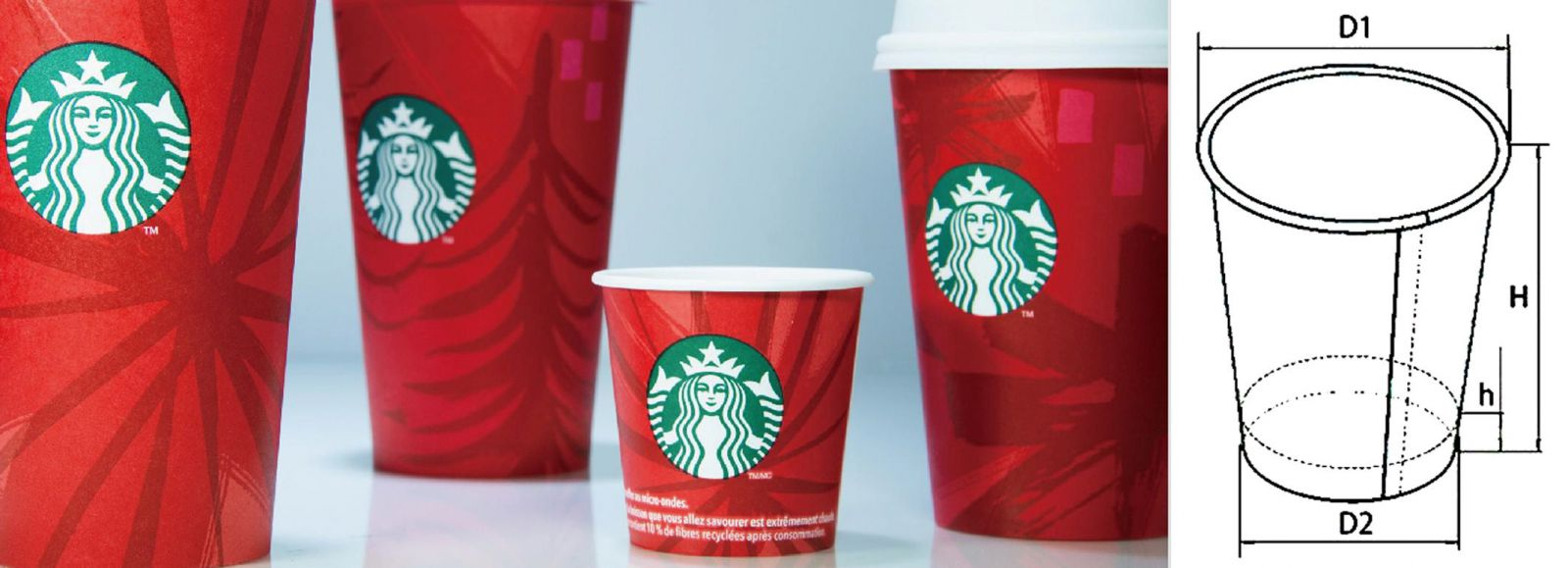 Купить одноразовый бумажный стакан для кофе 250 мл по